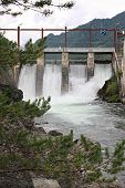 picture of hydroelectric power  - Hydroelectric power station on the river of Chemal - JPG