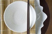 White Plate And Chopstick