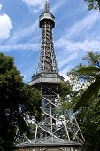 Lookout tower on Petrin Hill in Prague, Czech Republic