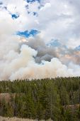 Fire Clouds Fill The Sky At Yellowstone Park