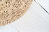 Close Up Hat On Wooden Background