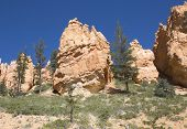 Rock formations in Bryce Canyon National Park, Utah