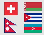 foto of nepali  - Swiss Belarusian Nepali Cuban and Azerbaijani flags - JPG