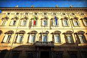 stock photo of senators  - Rome Madama palace home of the Senate of the Italian Republic - JPG