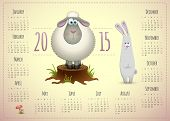 Year Of The Sheep 2015 Calendar.
