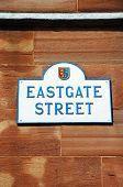 Eastgate Street sign, Chester.