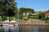 River Avon and park, Evesham.