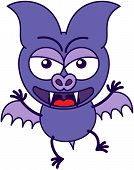 Purple bat in a very angry mood