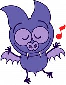 Purple bat dancing