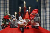 Composition of Christmas Figurines