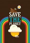 Ecology poster design in color. Vector illustration.
