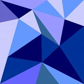 Triangle vector background or grey, blue, white and navy pattern. Flat surface wrapping
