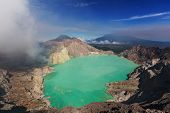 Lake in a crater Volcano Ijen, Java,Indonesia