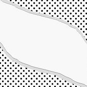 Black And White Polka Dot Torn Background