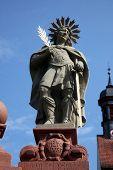 SCHONAU, GERMANY - JULY 18: Saint Victoirus. Schonau Abbey is a monastery of Friars Minor in the village of Schonau near Bavarian village of Gemunden am Main,Diocese of Wurzburg. July 18, 2013
