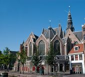 The Oude Kerk Church In Amsterdam ,netherland
