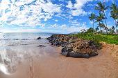 Wailea Beach Fisheye
