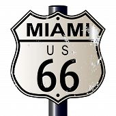 Miami Route 66 Sign