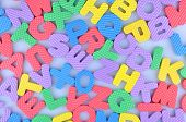 Random colorful English alphabet