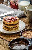 Pancakes In Retro Style