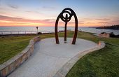 Bali Memorial  Coogee Beach Australia  At Sunrise