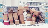 Trash From Cardboard Boxes