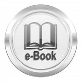 book metallic icon e-book sign