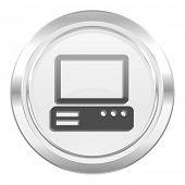 computer metallic icon pc sign