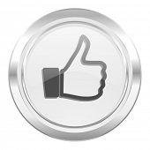 thumbs up metallic icon thumb up sign