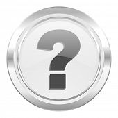 question mark metallic icon ask sign