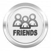 friends metallic icon