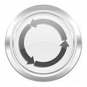 refresh metallic icon reload metallic icon