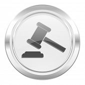 auction metallic icon court sign verdict symbol