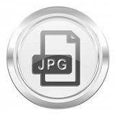 jpg file metallic icon