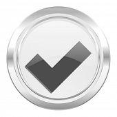 check metallic icon