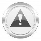 exclamation sign metallic icon warning sign alert symbol