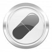 drugs metallic icon medical sign