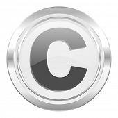 copyright metallic icon