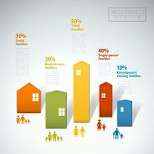 Family Concept Infographic Template Design
