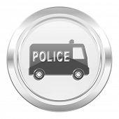 police metallic icon
