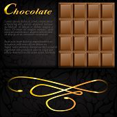 Bar Of Chocolate In An Elegant Black Envelope With A Gold Design