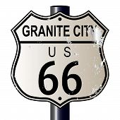 Granite City Route 66 Sign