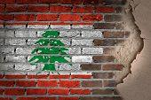 Dark Brick Wall With Plaster - Lebanon