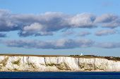 White Cliffs of Dover and South Foreland lighthouse