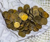 stock photo of poverty  - The smallest Polish currency - JPG