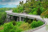 foto of blue ridge mountains  - The Linn Cove Viaduct - JPG