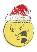 Christmas cartoon face emotions