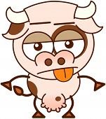 Cute cow in apathetic mood poster