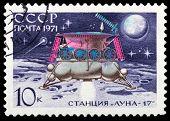 First Rut On Lunar Surface