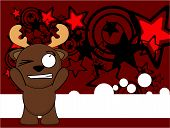 funny reindeer kid cartoon background